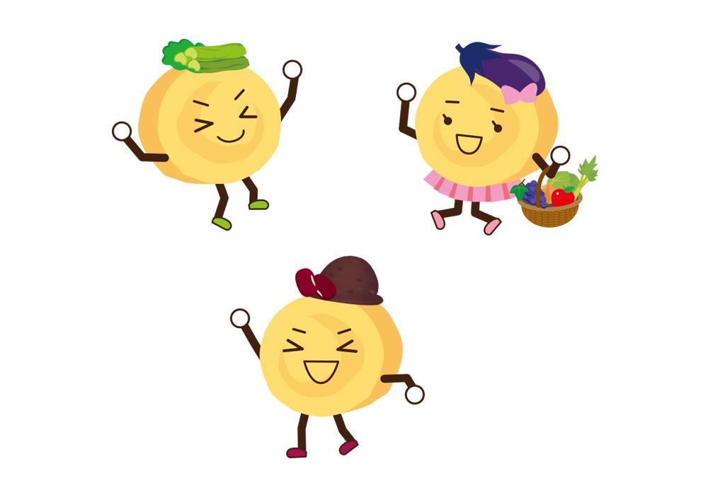 長野の郷土食「おやき」キャラクター制作